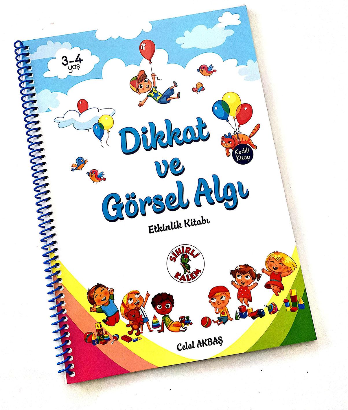 Dikkat ve Görsel Algı -Etkinlik Kitabı- 3-4 yaş