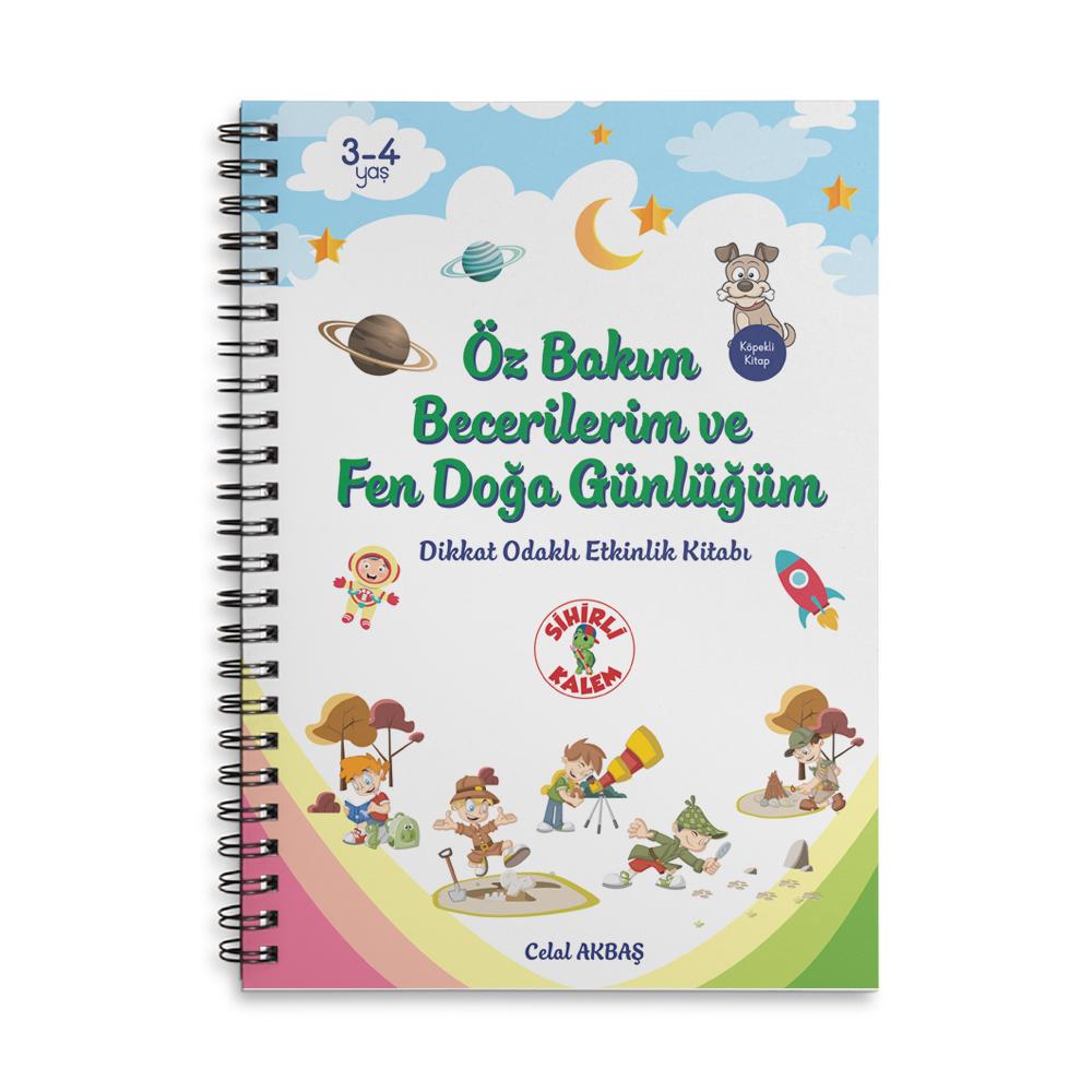 Öz Bakım Becerilerim  ( 3-4 yaş çocuklar için) -  Dikkat Odaklı Etkinlik Kitabı